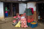 Local shop where vegetable is collected to take to bug market in Dharam Pokhara Village in Gurans Rural Municipality in Dailekh district of Nepal.