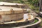 Tank and lids of the Dickowita biogas plant