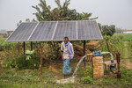 Pumping groundwater using solar panels