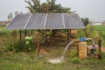 Pumping groundwater from electricity generated from solar panels