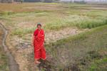 Woman working in a farm in Nepal