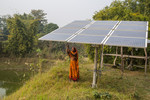 Solar panels in a farm