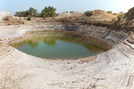 Salt water pond at the Azraq basin, this place was used earlier used to extract salt (malahhat)