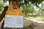 Farmers who received her first insurance payout