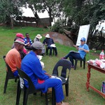 Inga Jacobs-Mata meets with community members in Limpopo